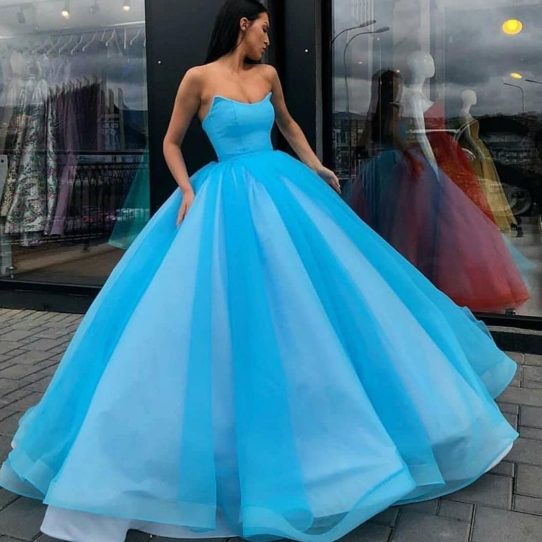 Strapless Ball Gown Prom Dresses Long Evening Party Dresses ER2156