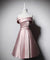 Satin Homecoming Dresses Aline Off-the-shoulder Simple Short Prom Dress Party Dress ER1051 - OrtDress