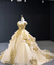 Ball Gown Off The Shoulder Prom Dress Vintage Gold Quinceanera Dress #ER2015