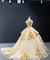 Ball Gown Off The Shoulder Prom Dress Vintage Gold Quinceanera Dress #ER2015 - OrtDress