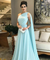 A Line Blue Cheap Prom Dress Chiffon Evenng Dress ER2040 - OrtDress