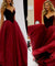 Ball Gown Burgundy Prom Dress Cheap Long Prom Dress #ER174 - OrtDress