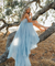 Chic Chiffon Prom Dress Blue Cheap Long Prom Dress #ER005 - OrtDress