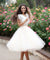 Two Piece Ivory Homecoming Dress Lace Homecoming Dress ER120 - OrtDress