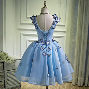 Blue Chic Homecoming dress Cheap Party Homecoming Dress ER038 - OrtDress