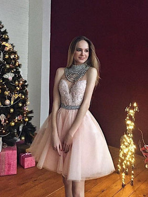 2018 Pink Homecoming Dress Party Cheap Homecoming Dress ER096 - OrtDress