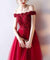 Red Lace Homecoming dress Off The Shoulder Homecoming Dress ER086 - OrtDress