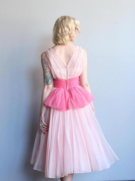 Pink Chiffon Homecoming Dress Cheap Homecoming Dress ER081 - OrtDress
