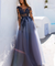 Long Sleeve Lace Prom Dress Tulle Cheap Long Prom Dress #ER134 - OrtDress