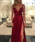 Burgundy Lace Prom Dress Cheap Long Prom Dress #ER008 - OrtDress