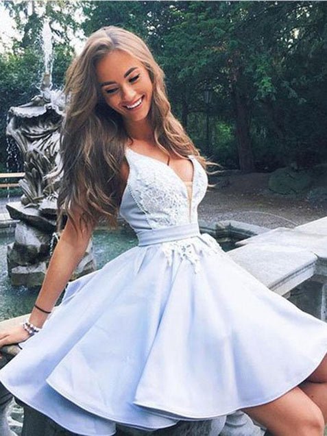 Blue Homecoming dress Cheap Party Homecoming Dress ER028 - OrtDress