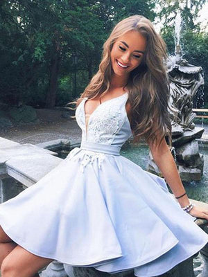 2018 Blue Homecoming dress Cheap Party Homecoming Dress ER028 - OrtDress