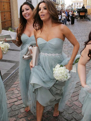Chic Tulle Bridesmaid Dress Cheap Long Bridesmaid Dress #ER032 - OrtDress