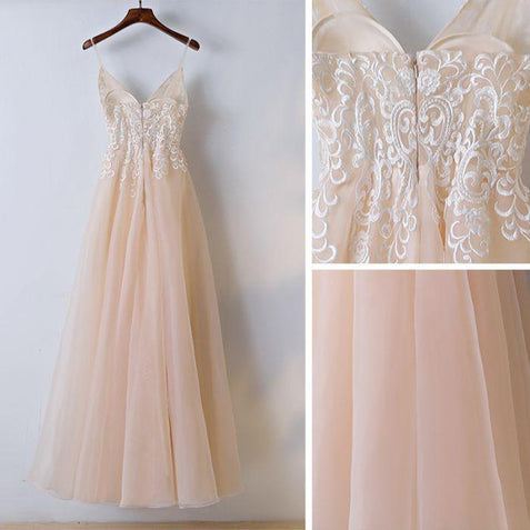 Chic Lace Prom Dress Cheap Long Prom Dress #ER141 - OrtDress