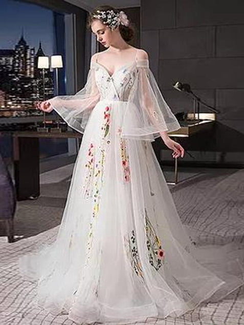 Chic Ivory Prom Dress Beautiful  Cheap Long Prom Dress #ER136 - OrtDress