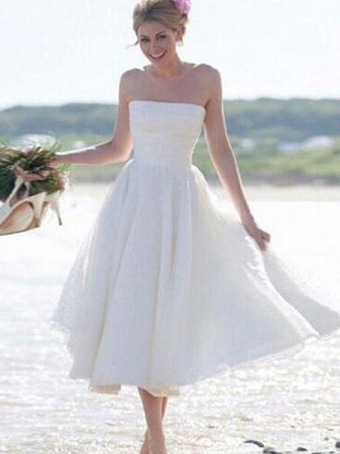 2018 Beach Wedding Dress Cheap Chiffon Wedding Dress #ER052 - OrtDress