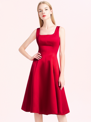 Red Simple Homecoming Dress Cheap Party Homecoming Dress ER083 - OrtDress