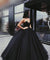 Ball Gown Black Prom Dress Cheap Long Princess Prom Dress #ER022 - OrtDress