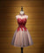Red High Neck Homecoming Dress Cheap Lace Homecoming Dress ER123 - OrtDress