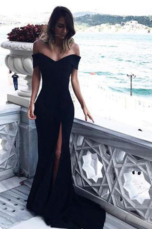 Black Mermaid Bridesmaid Dress Cheap Long Bridesmaid Dress #ER031 - OrtDress