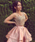 Two Piece Homecoming dress Pink Party Homecoming Dress ER071 - OrtDress