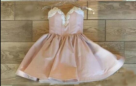 Pink Homecoming Dresses,  Prom Dresses Short, Nude Sweetheart Prom Dresses ER1076 - OrtDress