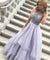 Chic Ball Gown Prom Dress Silver Tulle Cheap Party Prom Dress #ER145 - OrtDress
