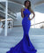 Chic Mermaid Chiffon Prom Dress Royal Blue Cheap Long Prom Dress #ER150 - OrtDress