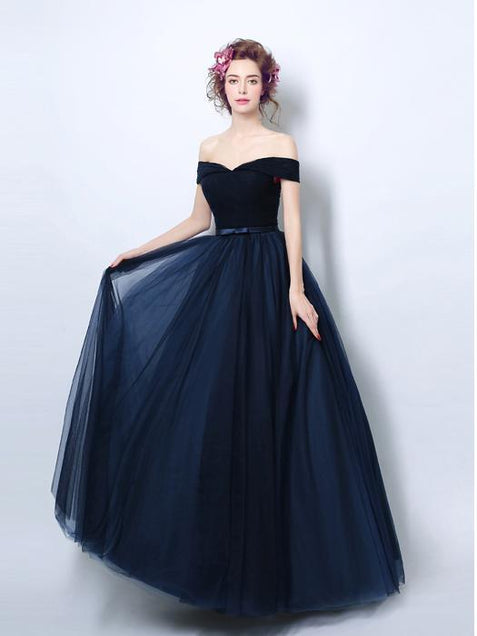 Off The Shoulder Prom Dress Short Sleeve Cheap Prom Dress #ER167 - OrtDress