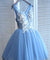 Blue Homecoming Dress Party Lace Homecoming Dress ER188 - OrtDress