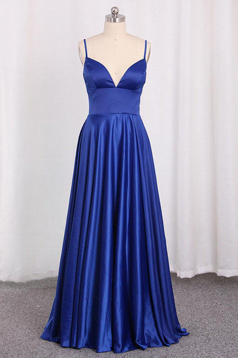 Chic A Line Cheap Prom Dress Sleeveless Satin Evenng Dress ER2042 - OrtDress