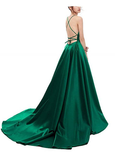Chic Simple Prom Dresses A Line Cheap Evening Dress ER2047 - OrtDress