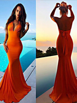 Mermaid Sexy Prom Dresses Halter Cheap Evening Dress ER2051 - OrtDress