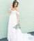 Chic A-line Off-the-shoulder Applique Court Train Rustic Wedding Dress ER2061