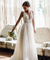 A-line Beach Custom Wedding Dress V Neck Tulle Cheap Boho Bride Dress ER2062
