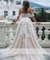 A-line Beach Wedding Dress Boho Appliques With Tulle Wedding Gowns ER2064