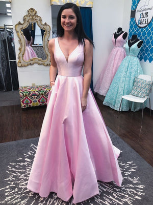 Elegant Cheap Prom Party Gowns Custom Evening Dresses With Pockets Formal Dress ER2076