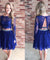 Two Piece Homecoming Dress Lace Long Sleeve Homecoming Dress ER208 - OrtDress