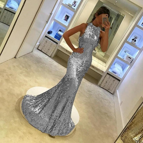 Mermaid Gold Prom Dress Cheap Beautiful Long Prom Dress #ER251 - OrtDress