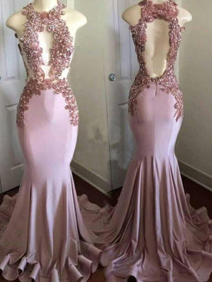 Chic Mermaid Pink Prom Dress Cheap Beautiful Long Prom Dress #ER252 - OrtDress