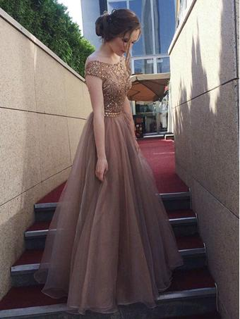 Chic Organza Prom Dress Beading Beautiful Long Vintage Prom Dress #ER255 - OrtDress
