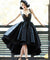 Chic Black Prom Dress Vintage Asymmetrical Cheap Prom Dress #ER295 - OrtDress