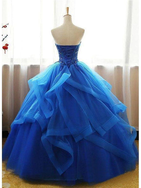 Ball Gown Vintage Prom Dress African Plus Size Long Prom Dress #ER421 - OrtDress