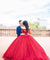 Ball Gown Off The Shoulder Prom Dress Vintage Long Sleeve Prom Dress #ER516 - OrtDress