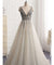 Chic Silver Prom Dress Vintage V Neck Tulle Beading Prom Dress #ER517 - OrtDress