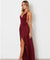 Burgundy Chiffon Prom Dress Cheap A Line Long Sexy Prom Dress #ER550 - OrtDress