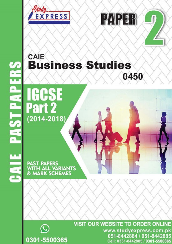 Business Studies 0450 P2 Past Paper Part 2(2014-2018)