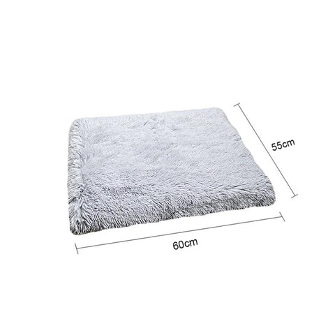 Image of Plush Cat Bed House Cat Mat Net Red Cat Litter Plush Two-in-one Pet Mat Cat  Cat Winter Warm Dog House Sleeping