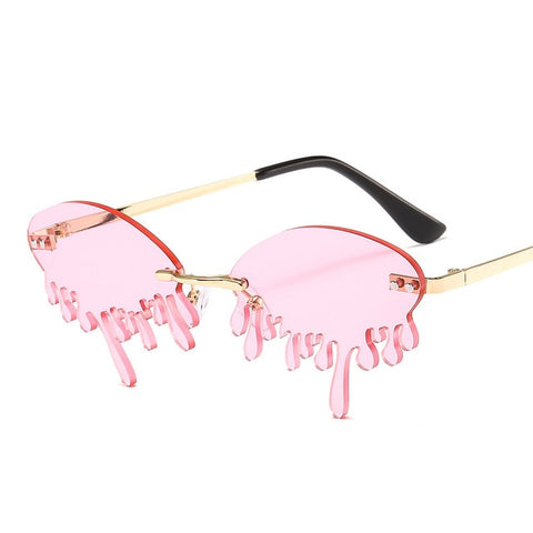 Image of Rimless Drip Sun Glasses