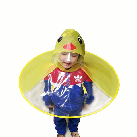 Cute Duck Design Hooded Raincoat for Kids - Frequent Needs